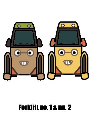 Forklift no. 1 & no. 2